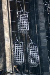 Jernburene i Skt. Lamberti kirketårn i Münster. Foto: Rüdiger Wölk