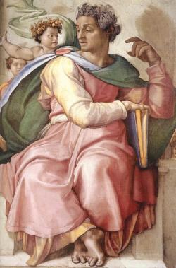 Michelangelo: Esajas (Det Sixtinske Kapel)