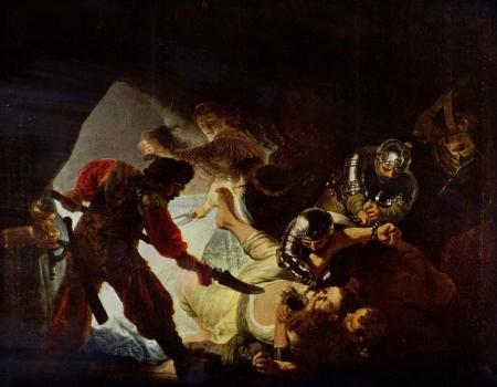 Rembrandt: Samson blindes