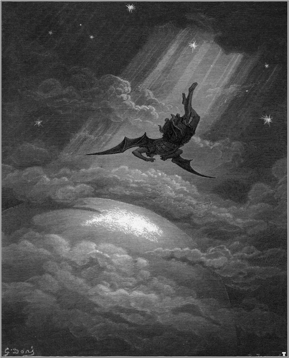 Gustave Doré (1832–1883): Satan stiger ned til Jorden (1866)