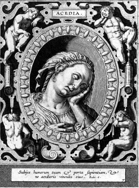 Hieronymus Wierix (1553–1619): Acedia