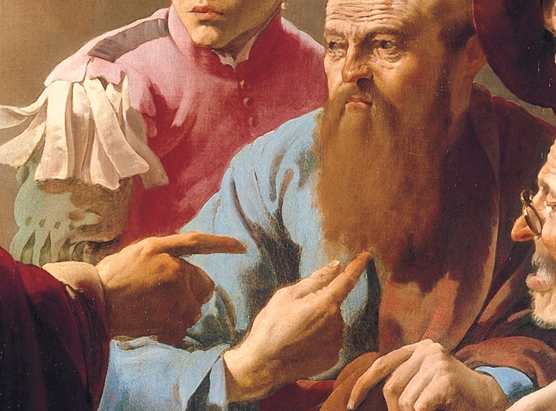 Hendrick ter Brugghen: Kaldelsen af Matthæus (1621; udsnit)