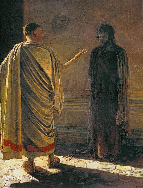 Nikolaj Ge: Hvad er sandhed? Kristus og Pilatus (1890)