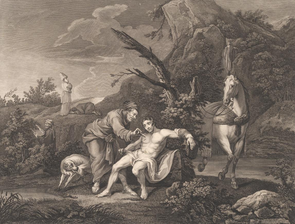 Simon François Ravenet: Den Barmhjertige Samaritaner (1772)