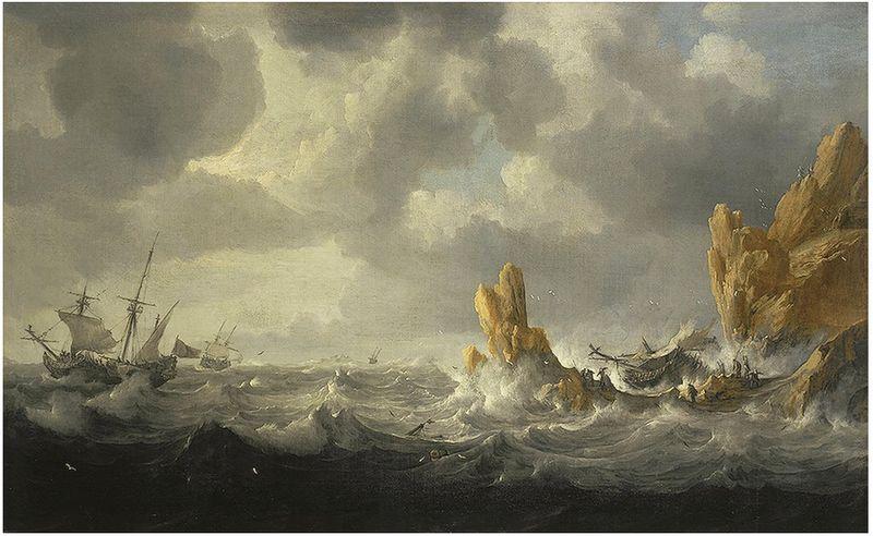 Jan Peeters (1624–1677): Stormfuldt hav