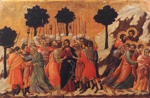 Duccio: Kristi tilfangetagelse (1308–1311)