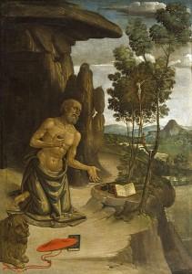 Hieronymus i ødemarken (Pinturicchio, ca. 1475)