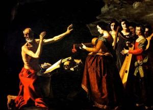 Hieronymus' fristelse (Francisco de Zurbarán, 1639)